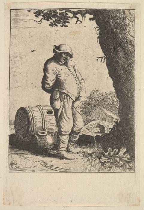 'The Pissing Man', etching, Netherlands, 1610-1685, from https://archive.org/details/mma_the_pissing_man_396325