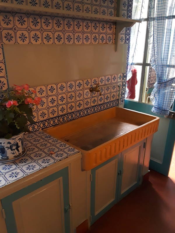 Claude Monet's kitchen sink, at Giverny.