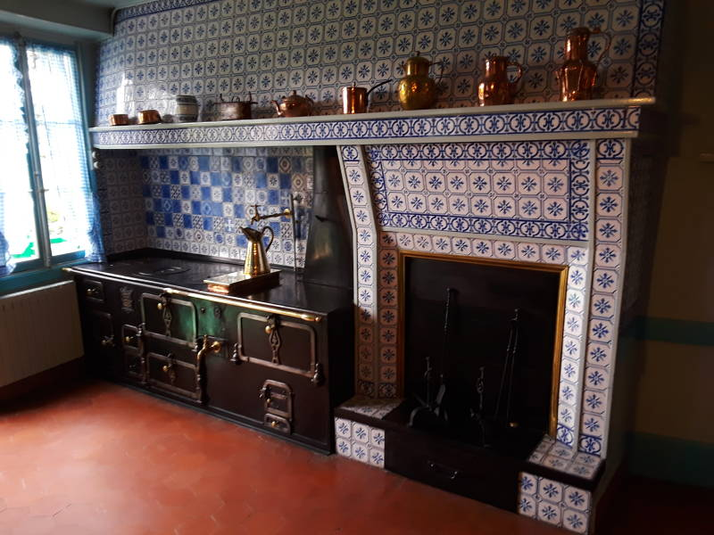 Claude Monet's stove, at Giverny.
