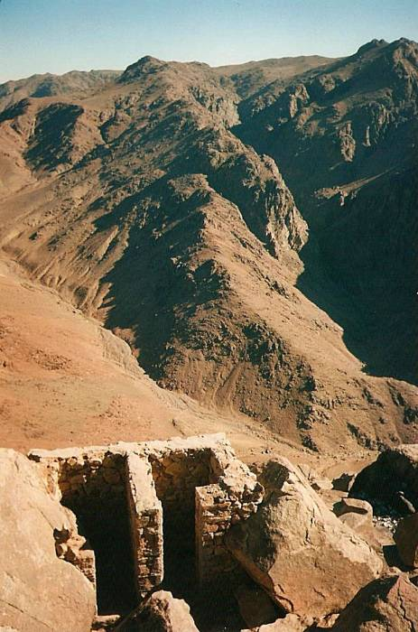 Toilet just below the summit of Mount Sinai, in Egypt.