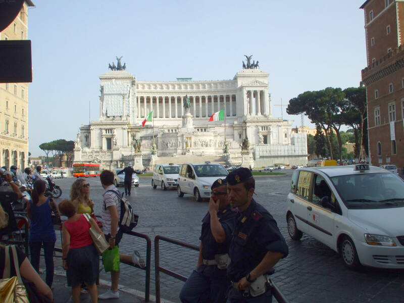 Monumento a Vittorio Emmanuelle II, also known as 'Mussolini's Typewriter'.