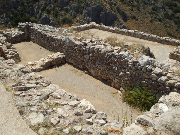 Royal chamber in the main palace at Mycenae.