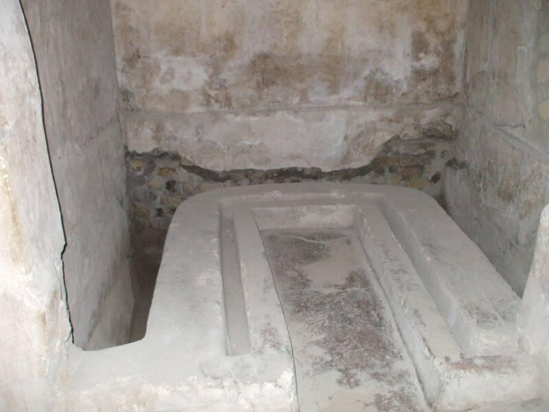 The Roman Emperor Nero's Toilet at Villa Poppaea at Oplontis