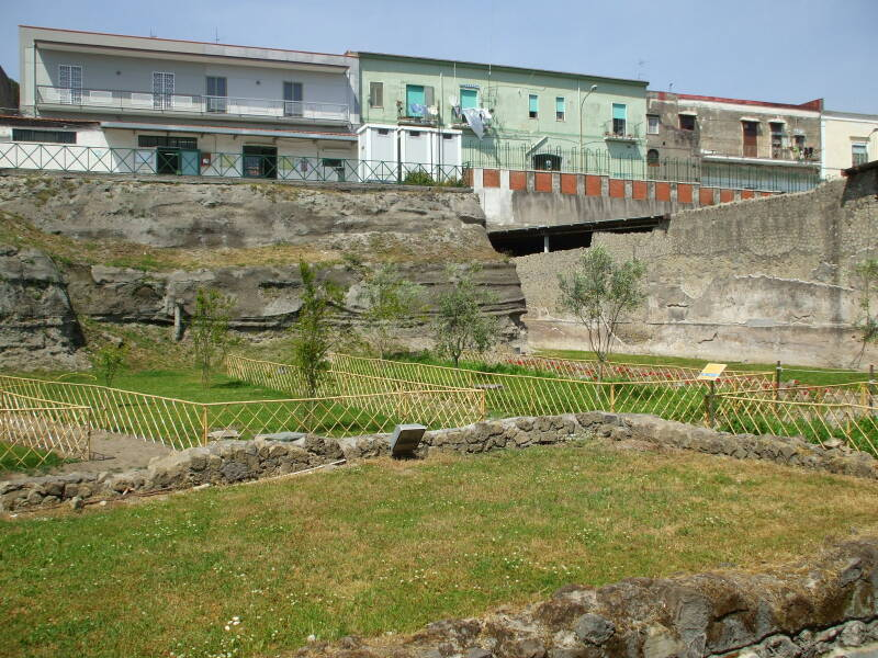 The grounds of Roman Emperor Nero's Villa Poppaea with a 10m ash layer.