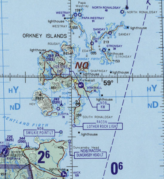 Map of Orkney.