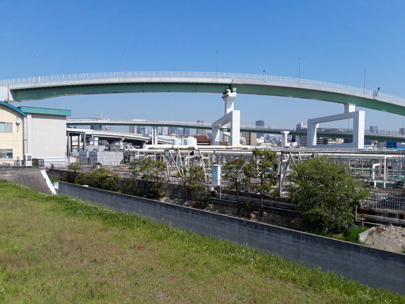 Ebie Sewage Treatment Plant in Osaka.
