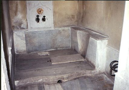 Toilet of the Ottoman Sultan.