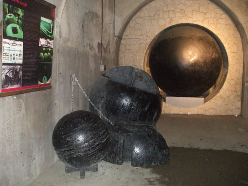 Sewer cleaning balls.