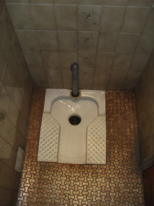 Squat toilet in a brasserie in France.