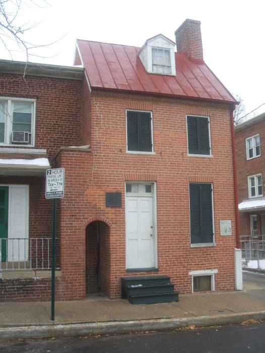Edgar Allan Poe's home at 203 Amity Street in West Baltimore, Maryland.