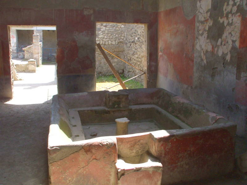 Wool fulling facility at Pompeii.