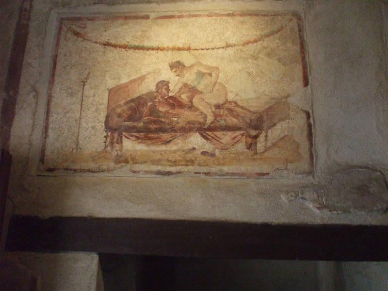 Pompeii erotic fresco