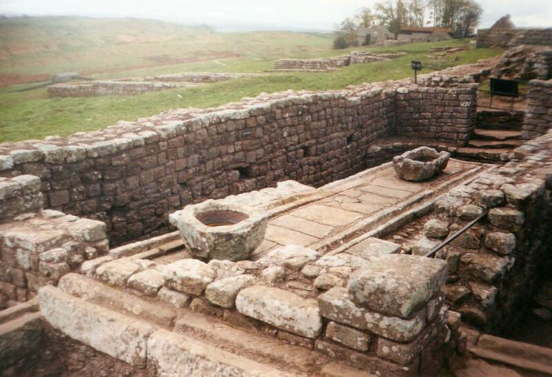 Roman toilets near Hadrian's Wall.
