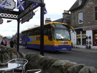 Citylink inter-city bus in Pitlochry, Scotland.