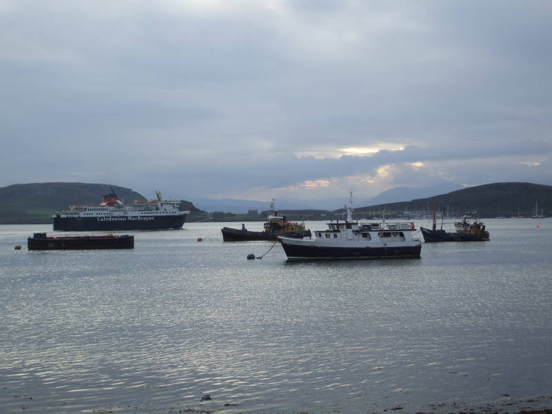M/V Isle of Mull in the Inner Hebrides islands off the coast of Scotland.