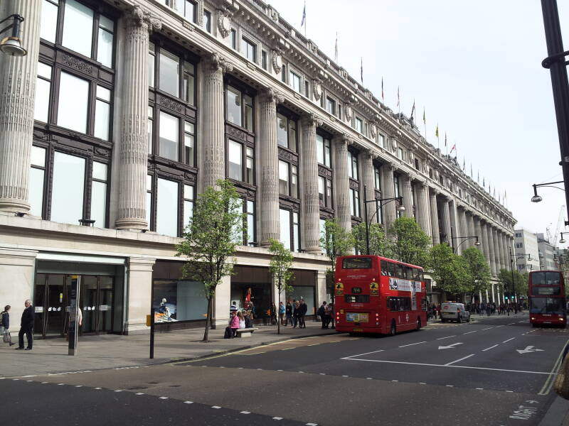 Selfridges Department Store, Oxford Road at Baker Street, London.