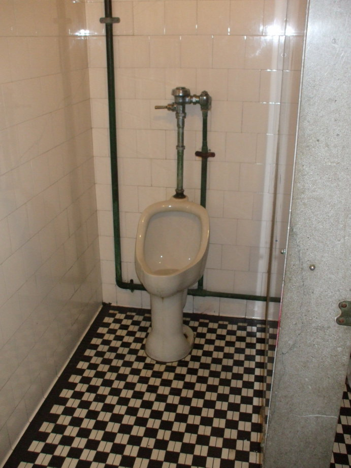 1930s urinal at the Coit Tower in San Francisco.