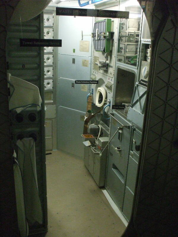 Skylab space station toilet.