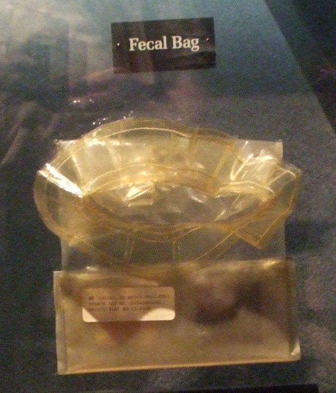 Fecal collection bag from Apollo 11.