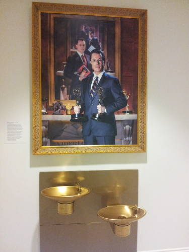 Stephen Colbert's trompe l'oiel portrait, in the American Portrait Gallery.