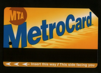 MTA New York City Transit Authority MetroCard.