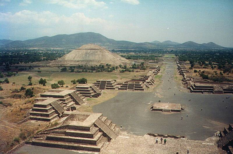 Teotihuacán in Mexico.