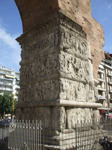 The Galerian Arch in Thessaloniki.