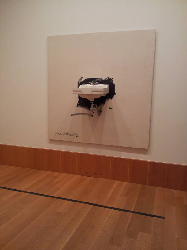 Jim Dine's 'Black Bathroom #2' at the Art Gallery of Ontario in Toronto.