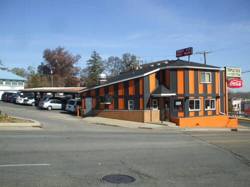 Triple XXX diner in West Lafayette, Indiana.  On the hill but on the level.