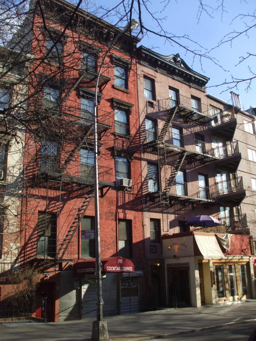 #77 St Marks Place in New York, where Leon Trotsky worked at Novy Mir.