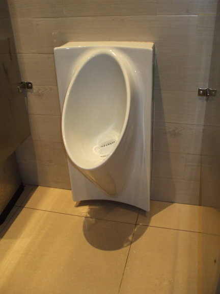 Waterless urinal in a Thai restaurant in Alexandria, Virginia.