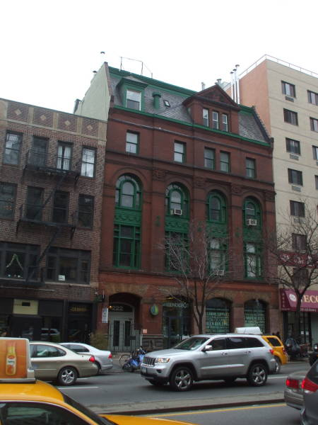 Exterior of 'Tne Bunker', 222 Bowery, William S Burroughs' home in a former YMCA.